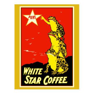 High quality retro vintage White Star Coffee ad Postcard