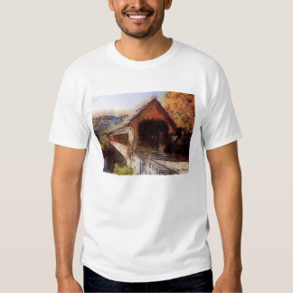 High quality T-shirt Picturesque covered bridge