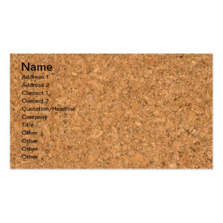 High Quality Texture Of The Cork Board Business Cards
