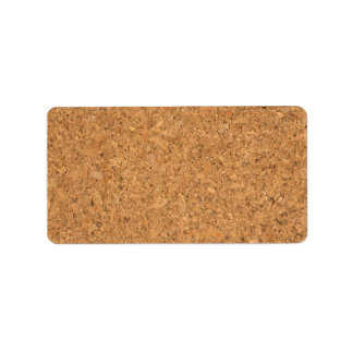 High Quality Texture Of The Cork Board Personalized Address Label