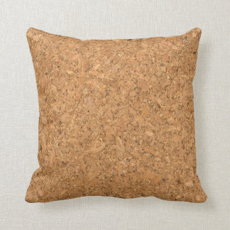 High Quality Texture Of The Cork Board Throw Pillows