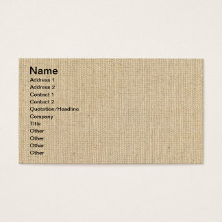 High Quality Texture Of The Cotton Canvas Business Card
