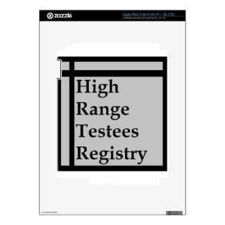 High Range Testees Registry (HRTR) Skin For iPad 3