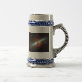 High Rate Star Formation Starburst Galaxy M82 Beer Stein
