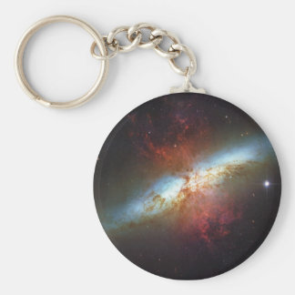High Rate Star Formation Starburst Galaxy M82 Keychain
