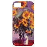 High Res Claude Monet Sunflowers iPhone 5 Cases
