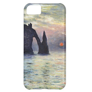 High Res Claude Monet The Manneport Sunset Cover For iPhone 5C