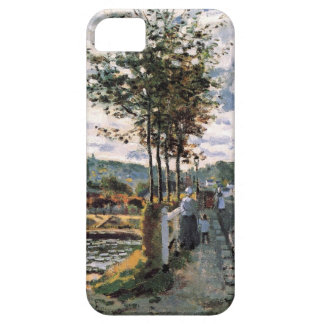 High Res Claude Monet The Seine at Bougival iPhone 5 Case