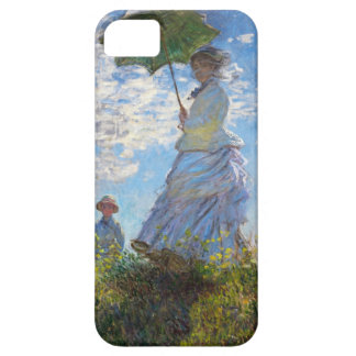 High Res Claude Monet Woman with a Parasol iPhone 5 Cases