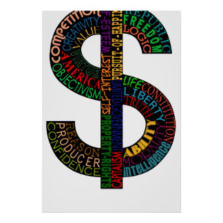 High Res Dollar Sign Poster