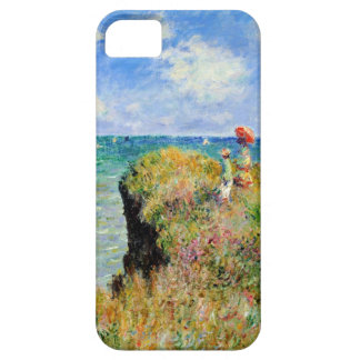High Res Monet Clifftop Walk At Pourville iPhone 5 Cover