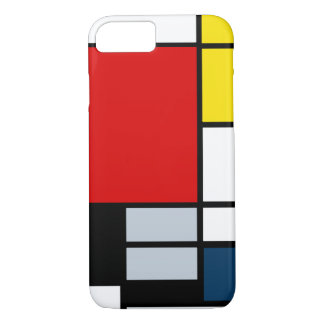 High Res Piet Mondrian Composition iPhone 8/7 Case