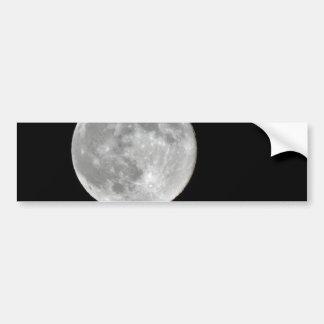 High resolution Full Moon Photo Bumper Sticker