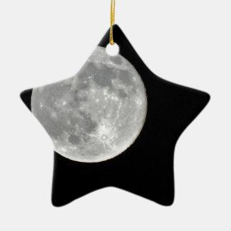 High resolution Full Moon Photo Christmas Tree Ornament