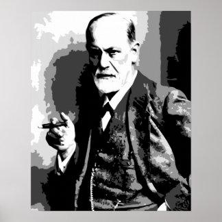 High resolution Sigmund Freud vector art Poster