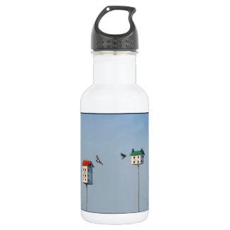 High-Rise Bird Condo Big Stainless Steel Water Bottle