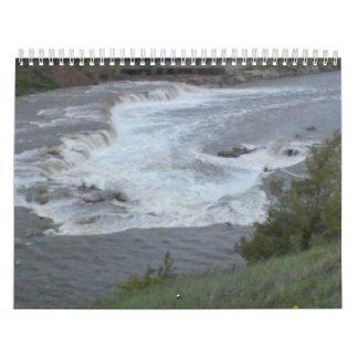 High Rise Canyon Overlooking Raging River Calendar