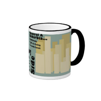 High rise living or urban sprawl? ringer coffee mug