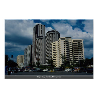 High-rise Manila Philippines Poster