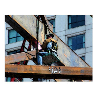 HIGH RISE WORKING MAN POSTCARD