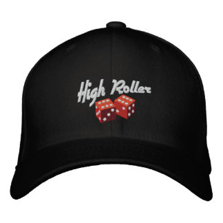 High Roller Embroidered Baseball Caps
