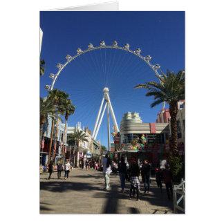 High Roller Ferris Wheel Las Vegas Card