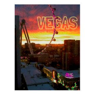 High Roller Ferris Wheel Sunrise in Vegas Postcard