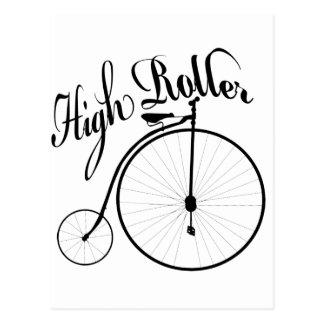 High Roller Funny Vintage Style Design Postcard