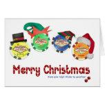 High Roller Las Vegas Christmas Card
