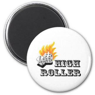 high roller refrigerator magnet