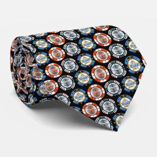 High Roller Poker Chips Tie Black Background