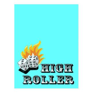 high roller postcard