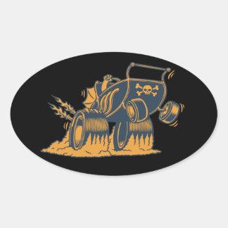 High Roller Stroller Oval Stickers