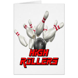 High Rollers Bowling Greeting Cards