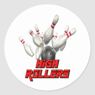 High Rollers Bowling Classic Round Sticker