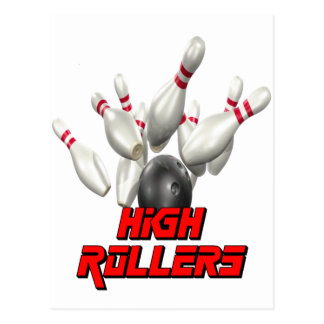 High Rollers Bowling Postcard