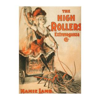 "High Rollers Extravaganza ""Mamie Lamb"" Play Canvas Print"