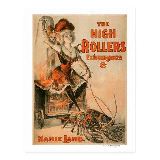 "High Rollers Extravaganza ""Mamie Lamb"" Play Postcard"