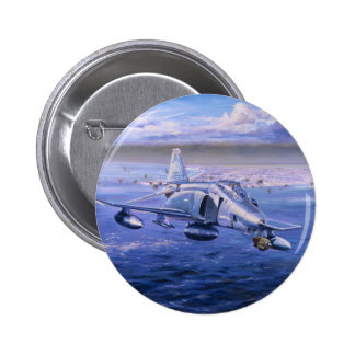 High Rollers over Kuwait by Rick Herter Pinback Button