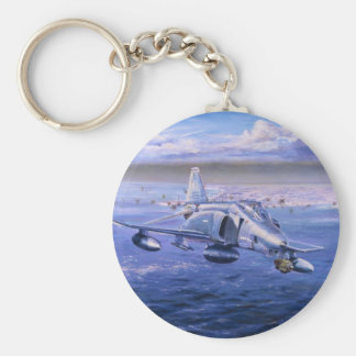 High Rollers over Kuwait by Rick Herter Basic Round Button Keychain