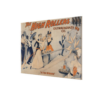 High RollersBowling Party Theatre Poster Canvas Print