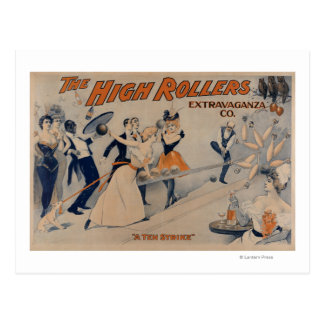 High RollersBowling Party Theatre Poster Postcard