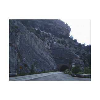 High Rolls Mountain Tunnel New Mexico Stretched Canvas Print