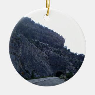 High Rolls Mountain Tunnel New Mexico Ceramic Ornament