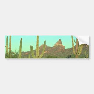 High Saguaros In The Desert Bumper Sticker