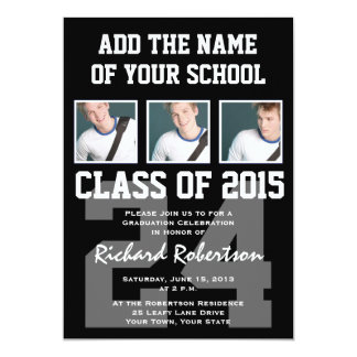 High School Athlete Graduation Class of 2015 Personalized Announcements