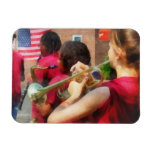 High School Band at Parade Rectangle Magnets