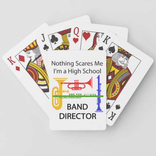 High School Band Director Playing Cards