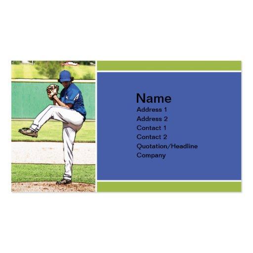 high school baseball pitcher business card