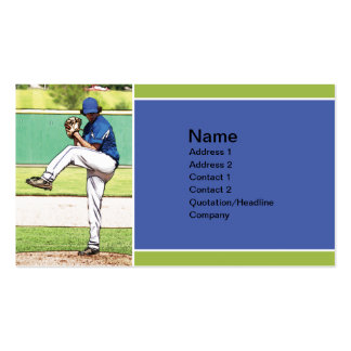 high school baseball pitcher Double-Sided standard business cards (Pack of 100)